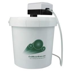 CO2 Boost mit Eimer und Pumpe