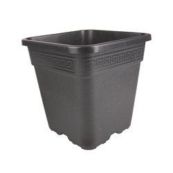 Topf viereckig schwarz 23 x 23 x 24cm 9 Liter