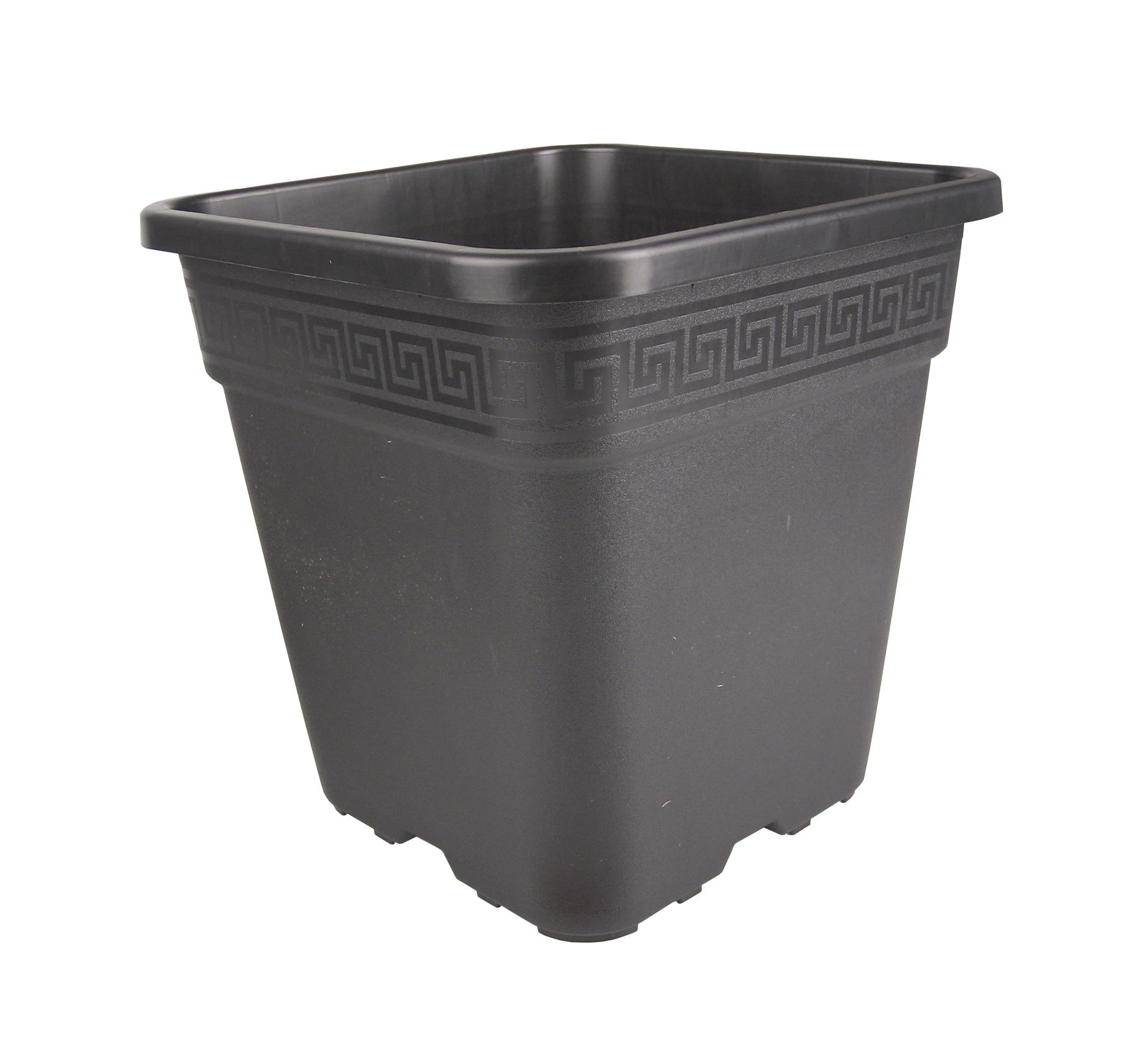 20x20cm Untersetzer Viereckig schwarz