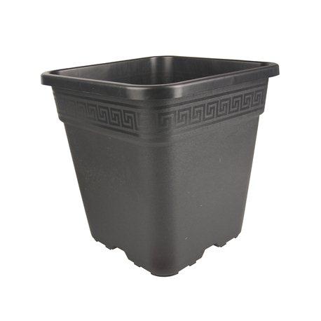 Topf viereckig schwarz 28,5 x 28,5 x 28,4cm 14 Liter