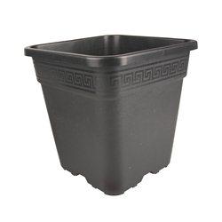 Topf viereckig schwarz 30,5 x 30,5 x 30,5cm 18 Liter