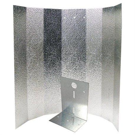 Hammerschlagreflektor klein 40 x 50 cm lose mit verstärktem Bügel