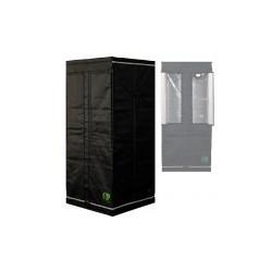 HomeLab 80 aufgebaut 80 x 80 x 180 cm Growbox von Eastside Impex