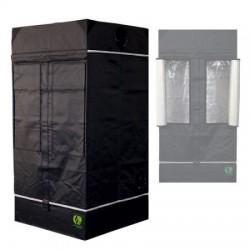 HomeLab 100 aufgebaut 100 x 100 x 200 cm Growbox von Eastside Impex