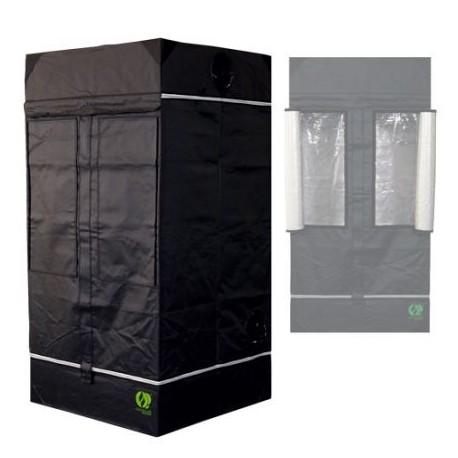 HomeLab 100 aufgebaut 100 x 100 x 200 cm Growbox