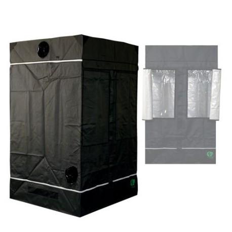 HomeLab 120 aufgebaut 120 x 120 x 200 cm Growbox