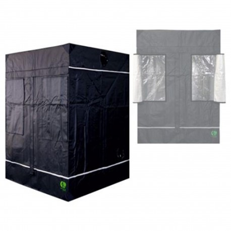 HomeLab 145 aufgebaut 145 x 145 x 200 cm Growbox