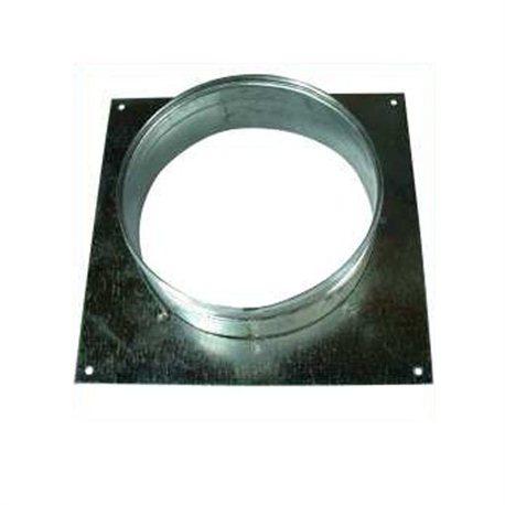 Wandflansch mit 125 mm Öffnung, Metall 17x17cm