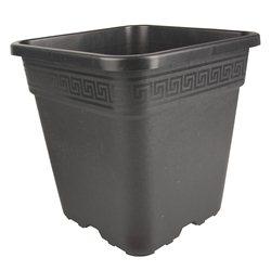 Topf viereckig schwarz 36 x 36 x 36,5cm 30 Liter