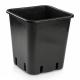 Topf viereckig schwarz 23 x 23 x 26cm 11 Liter