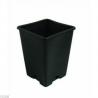 Topf viereckig schwarz 13 x 13 x 18cm 2,4 Liter