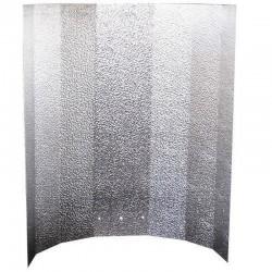 Hammerschlagreflektor klein 40x50cm nur Blech