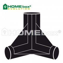 Homebox Spare Parts 3 Wege Verbinder 16mm