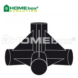 Homebox Spare Parts 4 Wege Verbinder 22mm