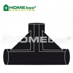 Homebox Spare Parts T Stück Verbinder 22mm
