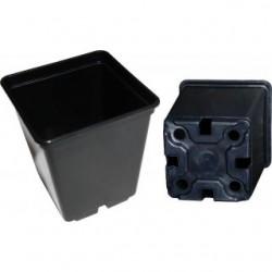 Topf BT viereckig schwarz 9 x 9 x 10cm circa 0,5 Liter