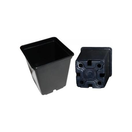Topf BT viereckig schwarz 11 x 11 x 12cm 1 Liter