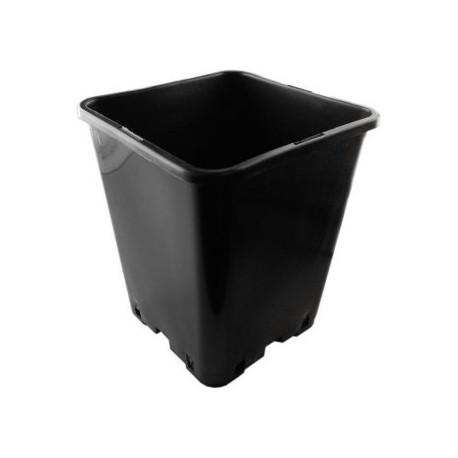 Topf BT viereckig schwarz 20 x 20 x 23cm circa 5,7 Liter