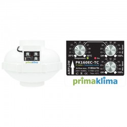 Prima Klima EC Ventilator 160mm 1180m³/h Temp./ Speed Controlled