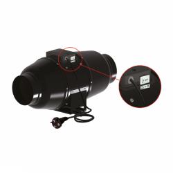 Ventilution Silent Line Metall - Rohrventilator 555 m³/h für 160 mm Rohr schwarz