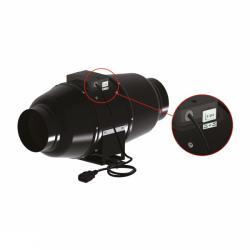Ventilution Silent Line Metall - Rohrventilator 1020 m³/h für 200 mm Rohr schwarz