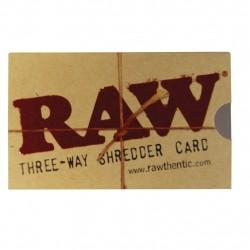 RAW Three-Way Shredder Card 8,5 x 5 cm