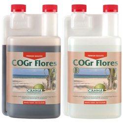Canna COGR Flores A&B 2 x 1,0L Blütedünger für COGr Matten Blüte Dünger Grow