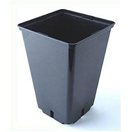 Topf viereckig schwarz 16 x 16 x 23,5cm 4 Liter