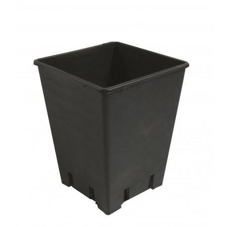 Topf viereckig schwarz 15 x 15 x 20cm 3,6 Liter