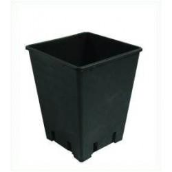 Topf viereckig schwarz 18 x 18 x 23cm 6 Liter